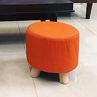 Ghế đôn chân gỗ nhiều sắc màu