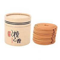 Hộp nhang trầm vòng 48 khoanh làm từ gỗ đàn hương tự nhiên