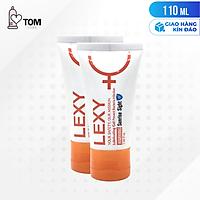 [110ml] Bộ 2 gel bôi trơn ấm nóng - Lexy Warming | Chai 55ml