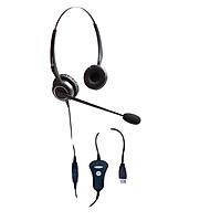 Tai nghe điện thoại viên DQN CS1332, dùng cho điện thoại viên, chuyên viên tư vấn bán hàng qua điện thoại, họp trực tuyến - Hàng chính hãng