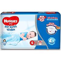 Tã Dán Sơ Sinh Huggies Dry Newborn S56 (4kg-8kg) - Gói 56 Miếng - Bao bì mới