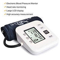 Upper Arm Style Automatic Electronic Blood Pressure Monitor with Large LCD Display Digital Intelligent Blood Pressure