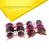 Vintage Retro Round Baby Boys Girls Kids Leopard Sunglasses Uv400 Goggle