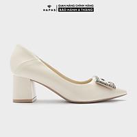 Giày Cao Gót Nữ Đế Vuông Khoá G 5Phân HAPAS - CG5551