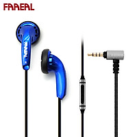 FAAEAL Snow-lotus 1.0+/1.0 Plus Blue With Mic Hifi Earphone 64 Ohm Earbuds Commemorative Edition 3.5MM Jack Wired Ear Buds Bass Sound Quality Music Earphone Universal Wired Earphones