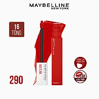 Son Kem Lì 16h Lâu Trôi Maybelline New York Super Stay Matte Ink Lipstick 5ml 290 Standout Đỏ Cam