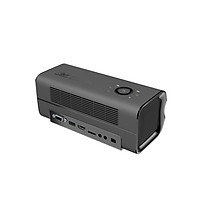 Projector Full HD DLP Portable Mini Projector with 30000 Lamp Life Side Projector for Home Theater and Entertainment