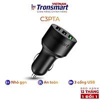 Tẩu sạc nhanh ô tô 3 cổng USB Tronsmart C3PTA Sạc nhanh QC 3.0 - Hàng chính hãng - Bảo hành 12 tháng 1 đổi 1