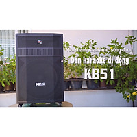 Loa kéo Acnos KB51 Tích hợp đầu máy phát wifi,  Loa bass 5 tấc, micro nhôm UHF - Chính Hãng Acnos