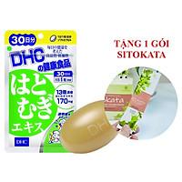 Viên Uống Trắng Da DHC Adlay Extract Nhật Bản 30 Ngày (Tặng Kèm 1 Gói Bột Cần Tây Sitokata)