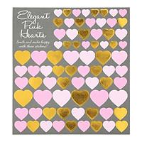 Tấm Sticker Dán Trang Trí - Elegant Pink Hearts