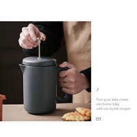 Durable Kitchen French Press Coffee Maker Large 35 Oz with Handle for Good Coffee and Tea Coffee and Tea Lovers Office Rust-Free
