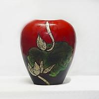 Bình hoa sơn mài - Lộc bình sơn mài Bát Tràng, Gốm Bát Tràng Độc - Lạ, Bình hoa vỏ trứng, tráng vàng và bạc