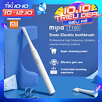 XIAOMI MIJIA T100 Bàn Chải Đánh Răng Điện Sóng Âm Không Dây Có Thể Sạc Qua USB Bàn Chải Đánh Răng Siêu Âm Không Thấm Nước Tự Động Bàn Chải Đánh Răng
