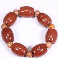 Vòng tay lu thống đá san hô hóa thạch 21x18mm mệnh Hỏa, Thổ - Ngọc Quý Gemstones