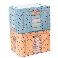 Bộ 2 hộp vải đựng chăn màn khung sắt GS0057