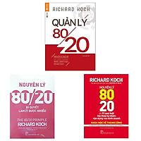 Combo 3 cuốn: Quản Lý 80/20 + Nguyên Lý 80/20 Và 92 Quy Luật Lũy Thừa Tự Nhiên Vận Dụng Vào Kinh Doanh + Nguyên Lý 80/20 - Bí Quyết Làm Ít Được Nhiều