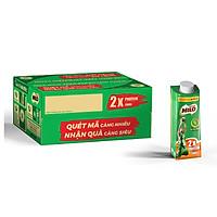 Thùng 24 Hộp Sữa Lúa Mạch Nestlé Milo Teen Protein Canxi (24 x 210ml) - [Phiên Bản Scan Mã Đổi Quà]