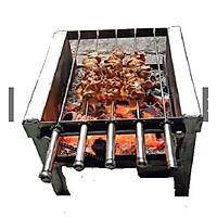 Bếp nướng than hoa vịt,gà thịt xiên nướng tự động