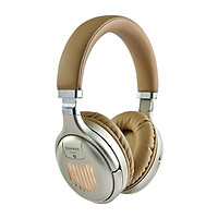 Wireless Headphones BT Connection LED Light Foldable Adjustable Handsfree Headset With MIC Wireless Or Wired USB-C Deep