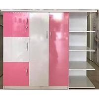 Tủ quần áo 1.25m x 1.45mx 45cm (màu trắng hồng)