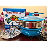 Chảo điện đa năng 5in1 CH cook Size 32cm (1 vỉ hấp và 1 chõ hấp) - Hàng chính hãng