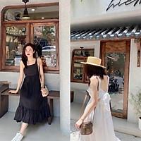 Váy hai dây đi biển nơ lưng 2 màu
