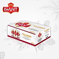 Thùng 24 lon Bia Đại Việt Pilsner lon 330ml