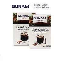 Combo 2 hộp cà phê hòa tan GUNAM cà phê đen đá (hộp 10 gói x 16g)