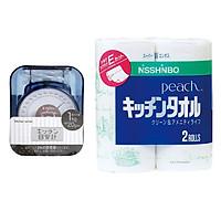 Combo Cân nhà bếp mini mẫu mới + Set 2 cuộn khăn giấy bếp nội địa Nhật Bản