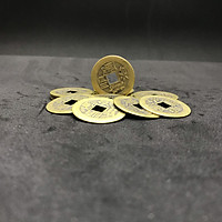 Combo 10 đồng xu cổ phong thủy âm dương bằng đồng mang lại tài lộc, cát tường, cầu bình an – TMT Collection – SP001135