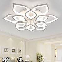 Đèn trần trang trí phòng khách LED 12 cánh sen 3 chế độ màu có điều khiển