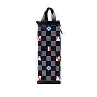 Túi giữ nhiệt bình nước caro lá cờ màu đen