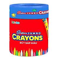 Bút Sáp Màu Chicko Super Jumbo Crayons (Hộp Tròn) - 18 Màu - DK3305-18