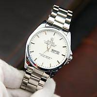 Đồng hồ nam dây thép mặt tròn RL002188 phong cách Ý hiển thị 2 lịch ngày tháng – Thiết kế sang trọng – Lịch lãm – Dễ dàng kết hợp trang phục