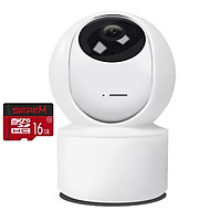 [ TẶNG THẺ 16GB ] Camera WIFI YH200 Trong Nhà Full HD 2.0Mpx - Góc Nhìn Rộng - Có Đèn Hồng Ngoại - Hú Báo Động - Nhập Khẩu