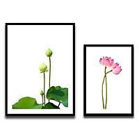 Combo 2 Khung Hình Kính Treo Tường 3D Cao Cấp size A3 Và A4 Tặng bộ ảnh hoa sen như mẫu - Khung Hình Phạm Gia PGCTK68