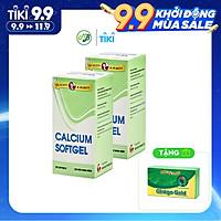 Combo 2 chai TPCN bổ xương bổ sung Calcium ( canxi) và Vitamin D3- Calcium softgel – Robinson Pharma Usa-Chai 100 viên-tặng 1 hộp tuần hoàn não GINKGO GOLD h/30v