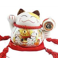 Mèo thần tà giơ tay phảii-Phú quý 6090-12cm
