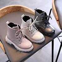 Giày bé gái giày boot da bóng ánh lấp lánh siêu xinh xắn đi êm chân