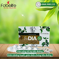 Hỗ trợ giảm & ổn định đường huyết FoDia- Hộp 30 viên.