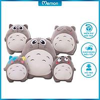 Gấu bông Totoro biểu cảm cao cấp - Hàng chính hãng Memon - Đồ chơi thú nhồi bông Totoro, Kích thước 35cm, Chất liệu Bông PP 3D tinh khiết, đàn hồi đa chiều, sản phẩm chính hãng bền đẹp, an toàn cho người sử dụng