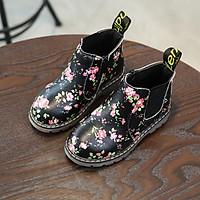 Giày bốt họa tiết cho bé gái 20237