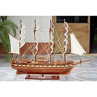 Mô hình thuyền buồm gỗ France II - thân tàu 80cm - trang trí nhà cửa - phòng khách - bàn làm việc, quà tặng tân gia - sinh nhật - khai trương