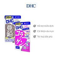 Combo Viên uống DHC Đóng Băng Lão Hoá (Kẽm & Collagen)