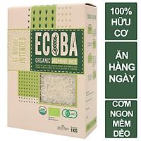 Gạo hữu cơ cao cấp/ECOBA Ngọc Mễ 1kg - Tốt sức khỏe - Cơm ngon dẻo nhiều