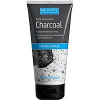 Sữa rửa mặt Beauty Formulas Charcoal Facial 150ml - than hoạt tính tẩy tế bào chết