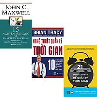 Combo 3 Cuốn Sách:  15 Nguyên Tắc Vàng Về Phát Triển Bản Thân + Nghệ Thuật Quản Lý Thời Gian + 21 Quy Tắc Cơ Bản Để Quản Lý Thời Gian