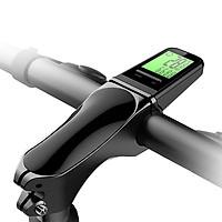 Wireless Bike Stem Computer Multi Functional LCD Screen Cycling Computer Mountain Bike Handlebar Speedometer IP65