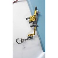 Móc khóa mô hình trong Game PUBG - Mẫu Victor Red - Màu Vàng Đồng